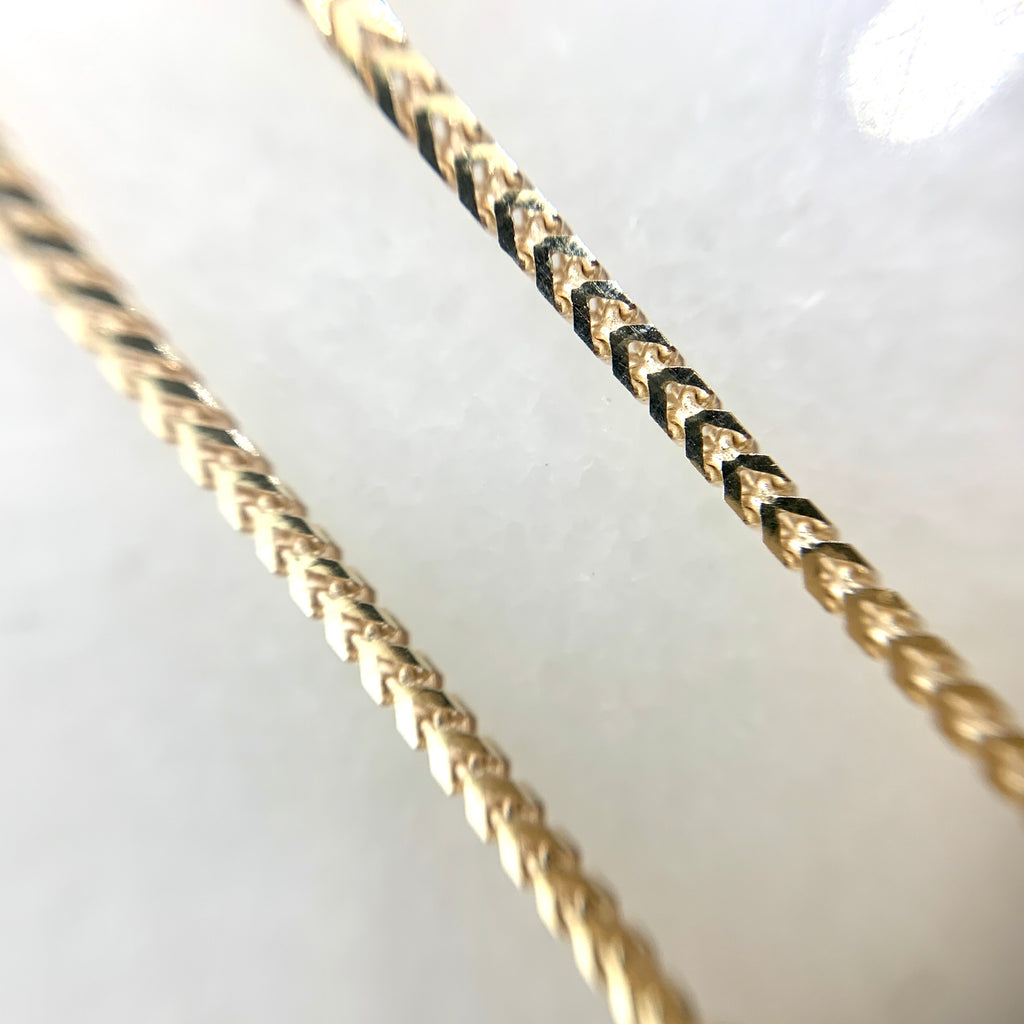 "10K Yellow Gold Franco Link 7"" Bracelet"