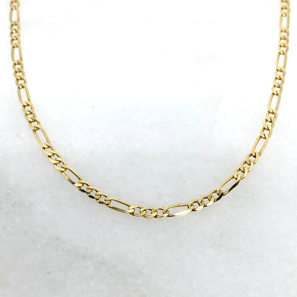 "14K Yellow Gold 22"" 2.25mm Figaro Chain"