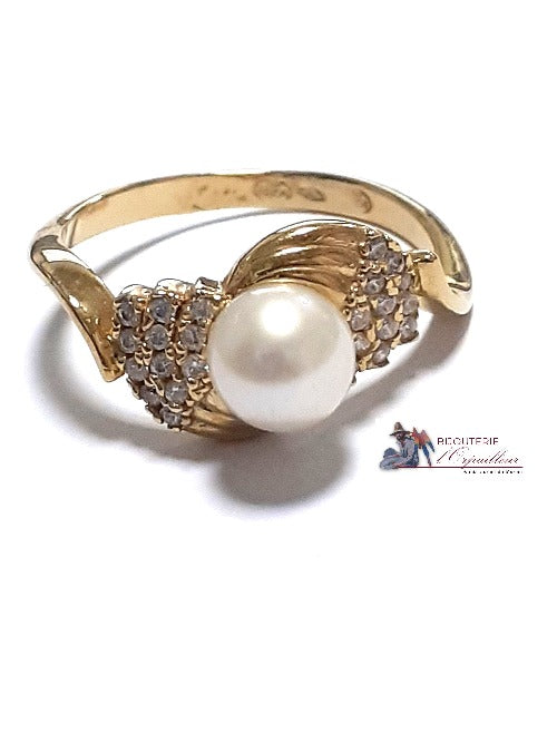 Bague Or 18 kt | Perle