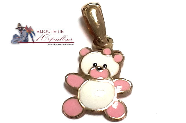 Pendentif OR 18Kt Ourson rose