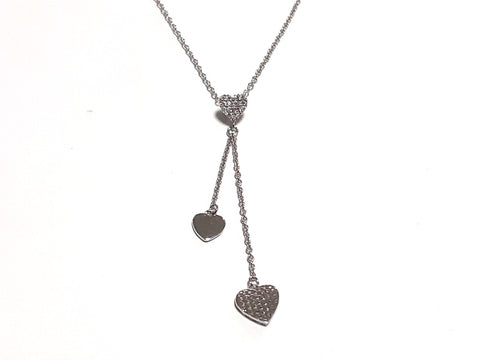 Collier 2 cœurs pendants