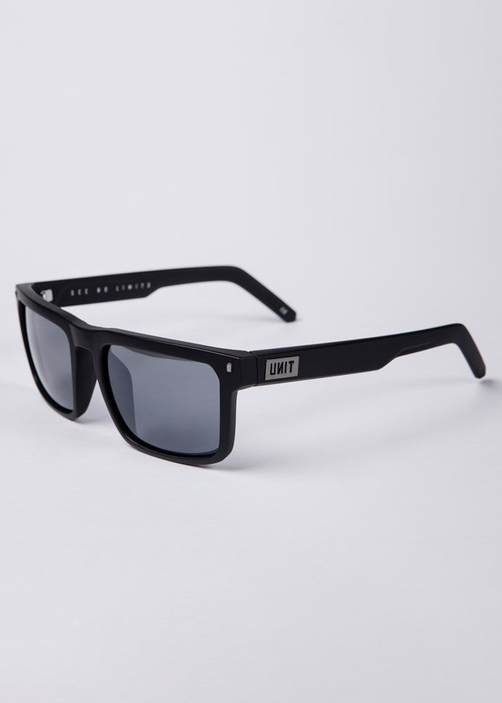 UNIT Sunglasses Primer - Matte Black Grey Polarised