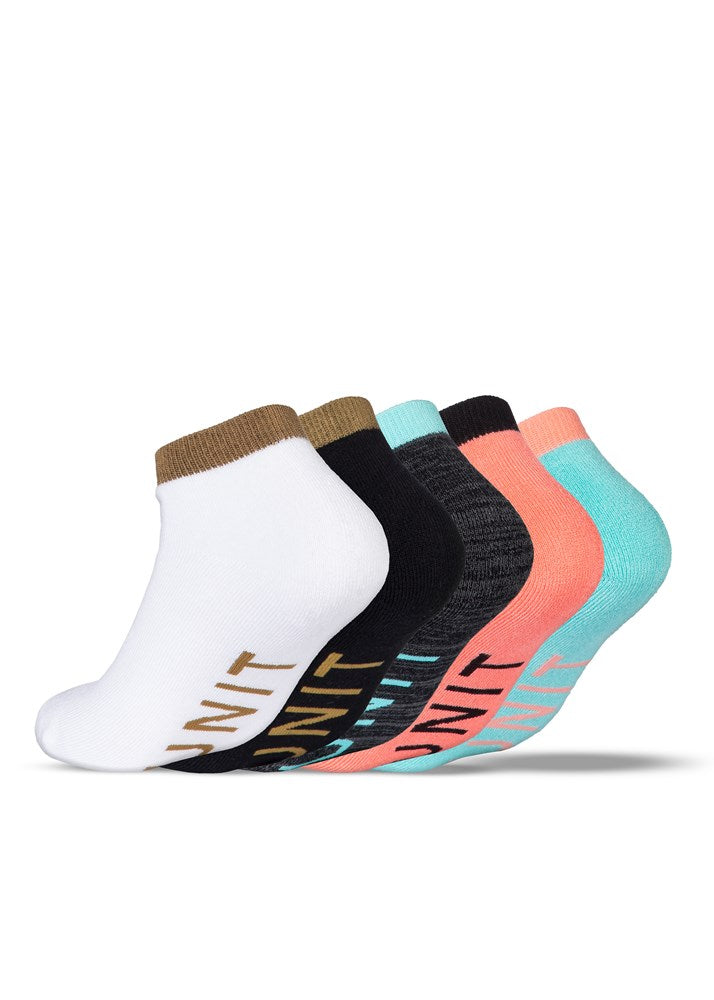 5 Pack Ladies Bamboo Socks - Staple Lo Lux