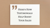 Here's How Testimonials Help Boost Your Sales