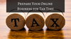 Prepare Your Online Business for Tax Time