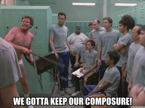 keep our composure w Will Farrell