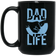 Dad Life: Fist Bump - 15 oz. Black Mug