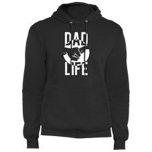 Load image into Gallery viewer, Dad Life: Fist Bump (White Graphic) - Fleece Pullover Hoodie