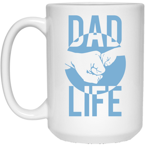 Dad Life: Fist Bump - 15 oz. White Mug