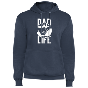 Dad Life: Fist Bump (White Graphic) - Fleece Pullover Hoodie