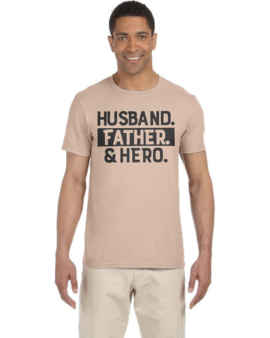 Image of Husband Father & Hero Tee