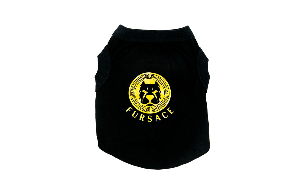 Fursace Dog Shirt: Black