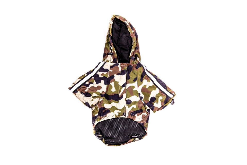 Pupreme Camo Windbreaker: Red