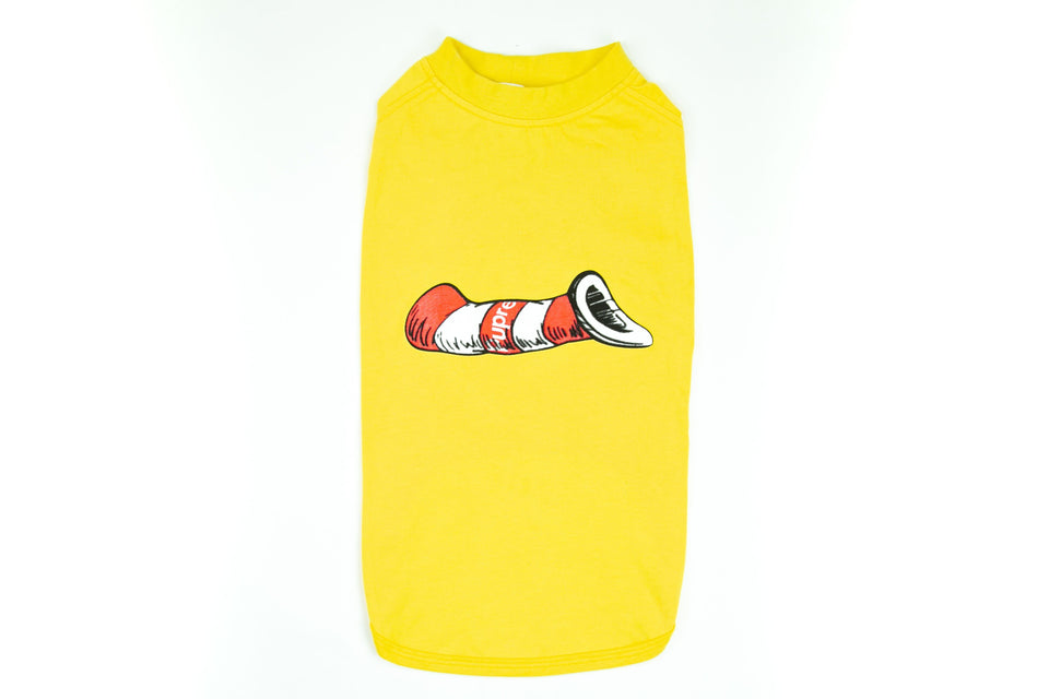 Pupreme Cat in the Hat Shirt: Yellow