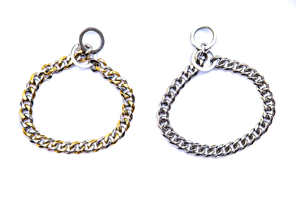 Cash Cuban Link Collar: Silver