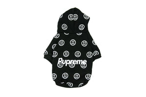 Pupreme Smiley Hoodie: Black