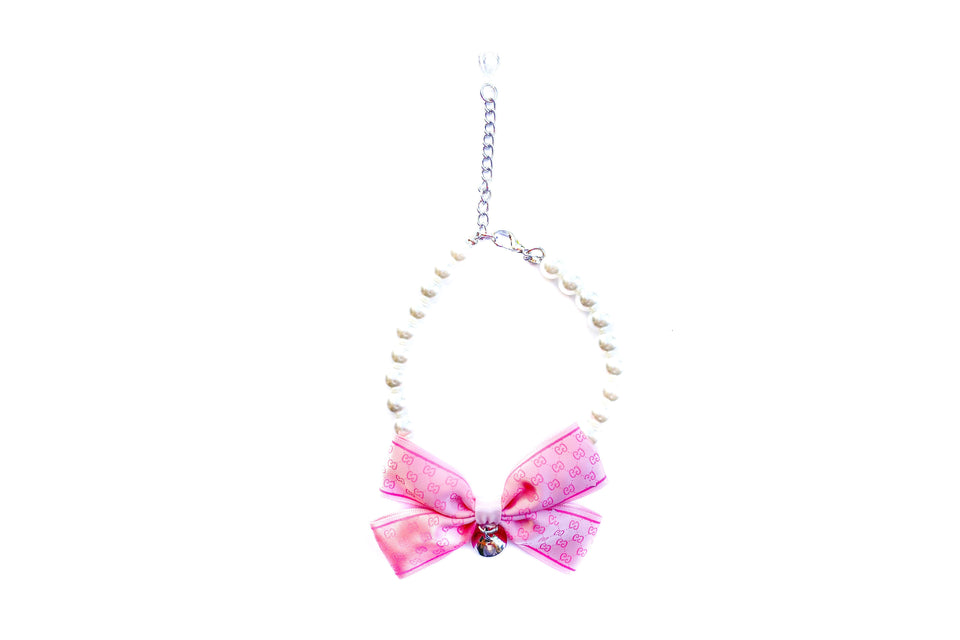Poochi Pearl Necklace: Pink