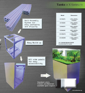 Aluminium Profile Stand for Aquarium & Light Railing Mount