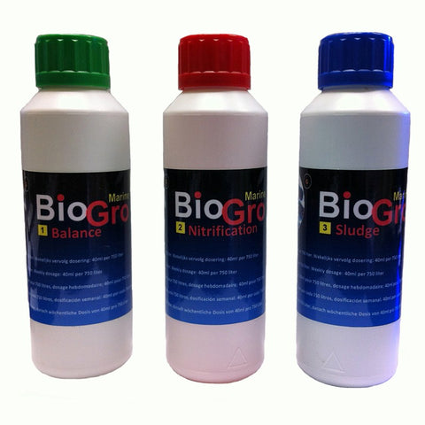 Set 3x 250ml BioGro Bacteria for Freshwater