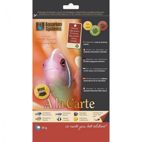Aquarium Systems Ala Carte Omnivore Diet 30g(Medium)