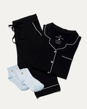 Black Pajamas and Sock Bundle