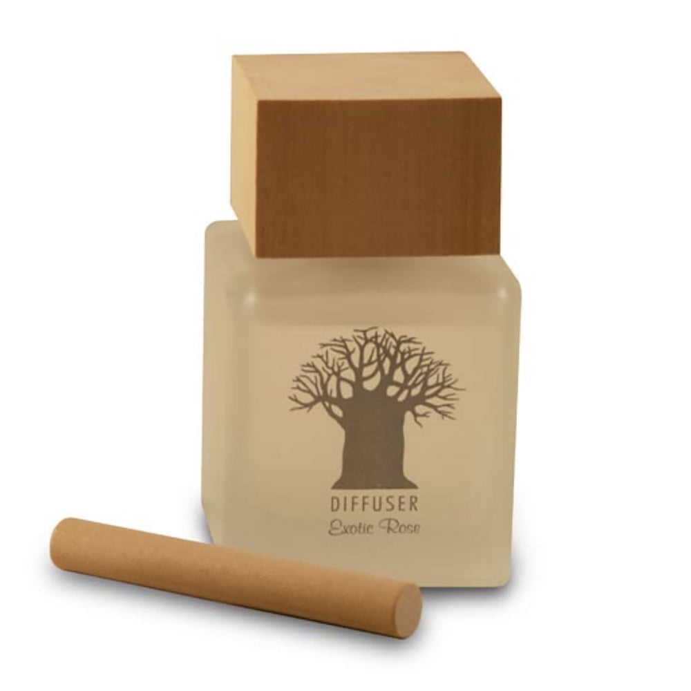 Khalees Mockana Wooden Top Diffusers Exotic Rose