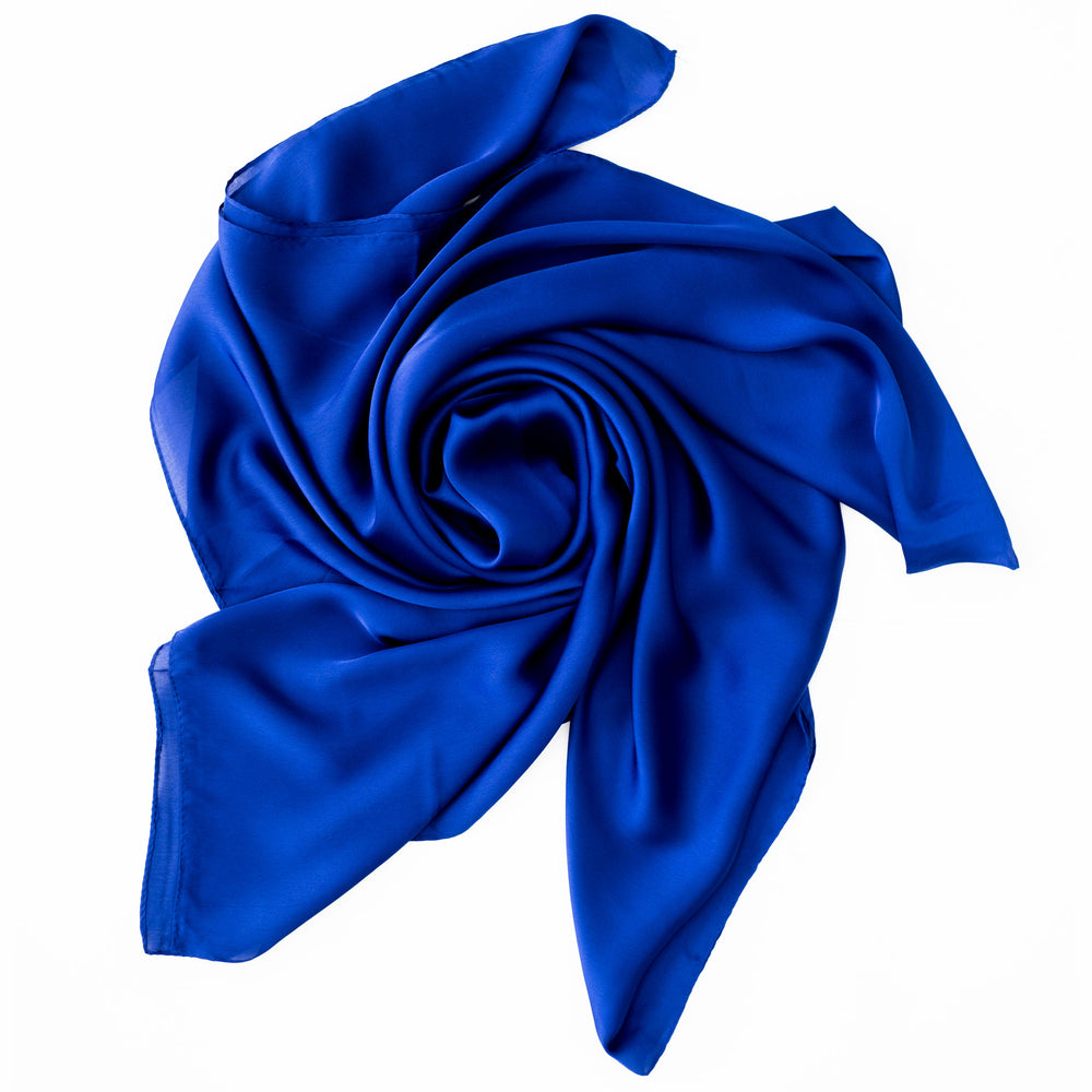 khalees monochrome silk royal blue