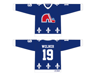 Nordiques Home and Away Jersey Combo