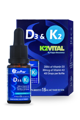 CanPrev D3 & K2 Drops MCT Oil Base 15 ml