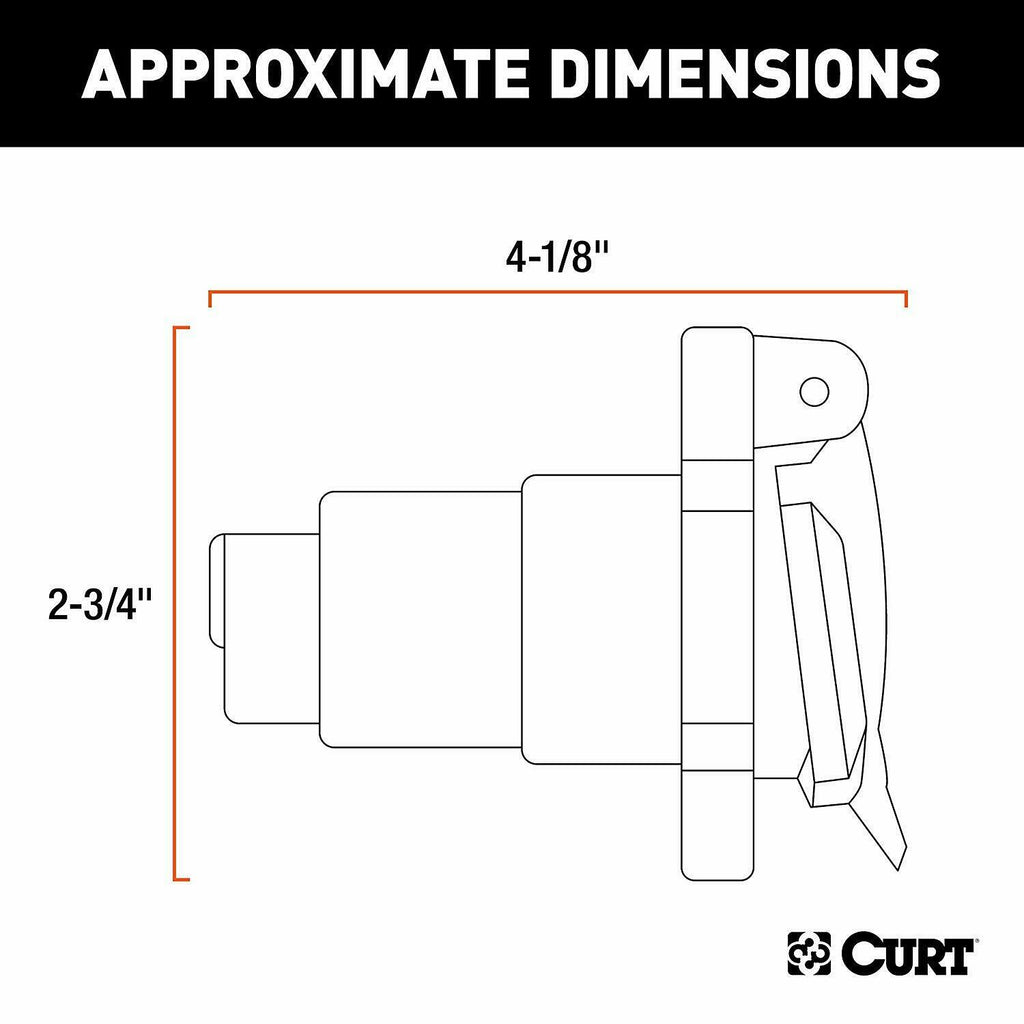 CURT 40 VEHICLE SIDE RV BLADE 40 WAY TRAILER WIRING HARNESS CONNECTOR