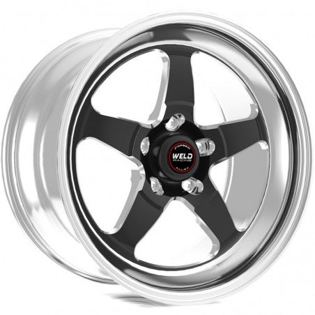 Weld Racing RT-S S71 17x10.5 5x127 Bolt Pattern, 7.7in Back Spacing +50 Offset Black Drag Wheel (high Pad) NON BEADLOCK