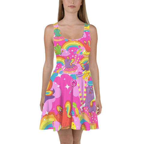 Meowgical Caticorn Skater Dress