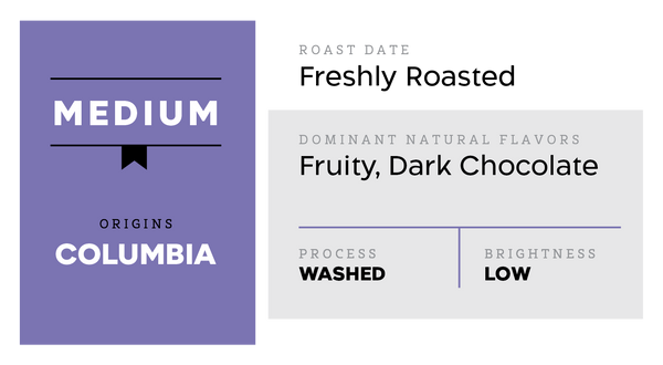 Medium (Slightly Fruity) - Colombia Washed