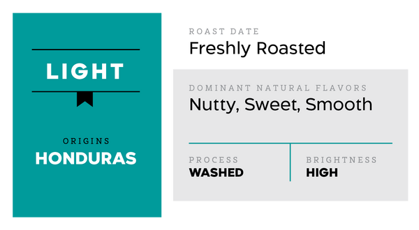 Light (Smooth, Nutty) - Honduras Washed