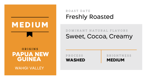Medium-Light (Sweet, Cocoa, and Creamy)-Papua New Guinea- Wahgi Valley
