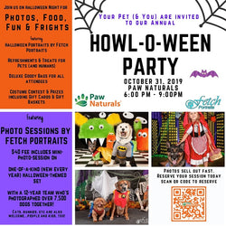 Join us for our annual Halloween Party featuring Fetch portraits!