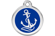 Red Dingo Enamel Pet ID Tag - 1AN - Anchor
