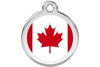 Red Dingo Enamel Pet ID Tag - Country Flags Canada / Large - Paw Naturals