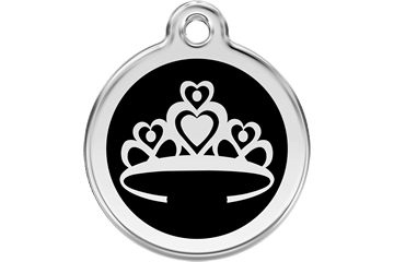 Red Dingo Enamel Pet ID Tag - Crown Black / Large - Paw Naturals