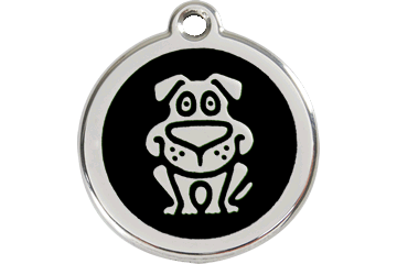 Red Dingo Enamel Pet ID Tag - Dog Black / Large - Paw Naturals