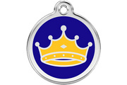 Red Dingo Enamel Pet ID Tag - 1KC - Kings Crown