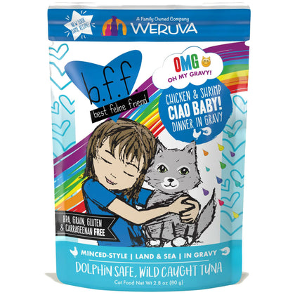 Weruva BFF OMG Oh My Gravy! Wet Cat Food Pouch 2.8oz
