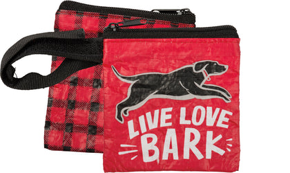 Primitives By Kathy Pet Waste Bag Pouch - Live Love Bark - Paw Naturals