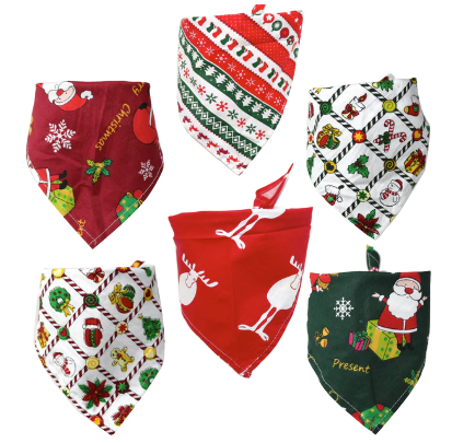 Sparky & Co Holiday Bandanas for Dogs & Cats (Assorted Patterns)