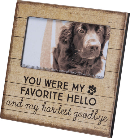 Primitives By Kathy Plaque Frame - Hello Goodbye - Paw Naturals