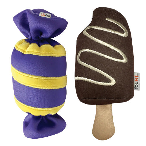 foufouBrands Carnival Treats Freeze & Float Dog Toys
