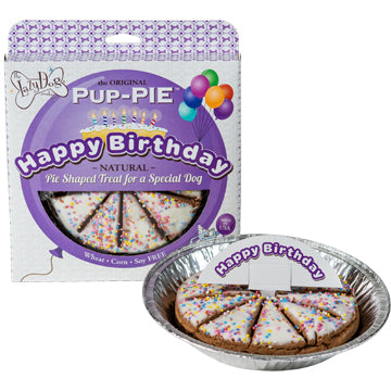 Lazy Dog Cookie Co. Happy Birthday 6 Pup-PIE Dog Treat