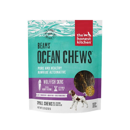 Honest Kitchen Beams Ocean Chews Wolffish Skins Small 3.2oz - Paw Naturals
