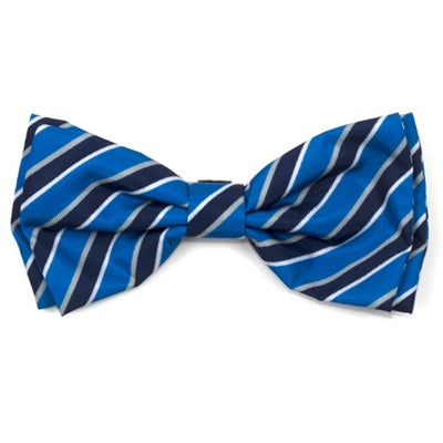 The Worthy Dog Prep Stripe Blue Bow Tie