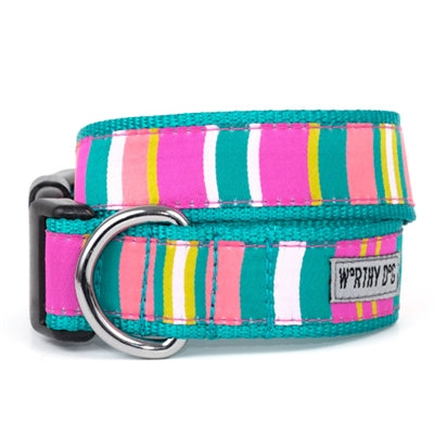 The Worthy Dog Fiesta Stripe Collar & Lead Collection - Paw Naturals